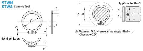 snapring h m24 h retaining rings external c type misumi misumi usa