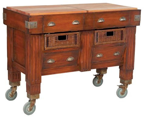 rustic kitchen islands and carts woodtone butchers block station rustic kitchen islands