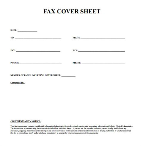 fax template printable sle fax cover sheet template 9 free documents