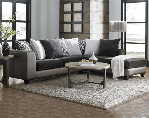 Sectional Sofa Decor Furniture Grey Sectional Sofa With Brown Wooden Floor And Small Glass Windows For Modern Family