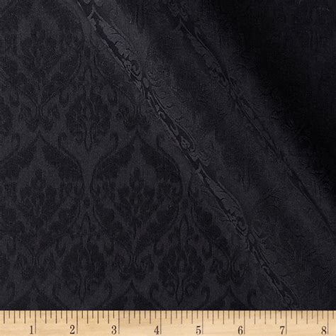Discount Draperies And Curtains Royal Jacquard Black Discount Designer Fabric Fabric Com