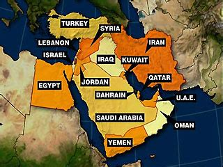 mid east region map key risks in the middle east in 2010