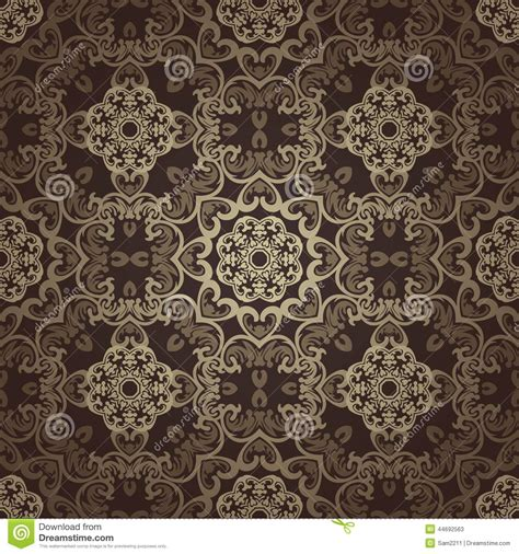 wallpaper background motif seamless wallpaper islamic motif background stock vector