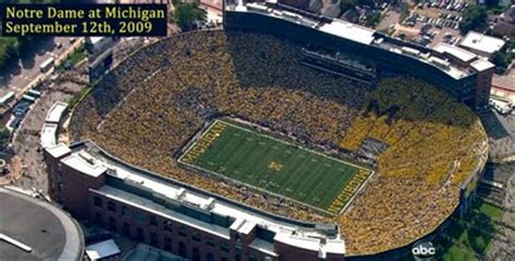 big house student section student section to create color coordinated block m mgoblog