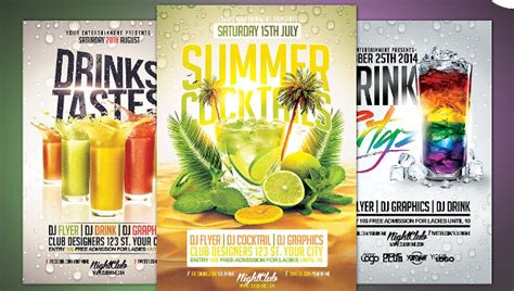 Cocktail Flyer Template Free 25 cocktail flyer templates free premium psd png eps