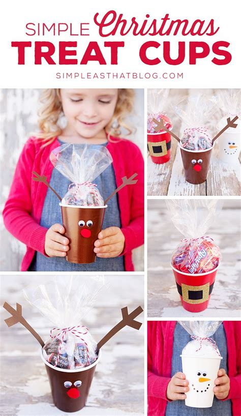 simple christmas treat cups classroom treats simple