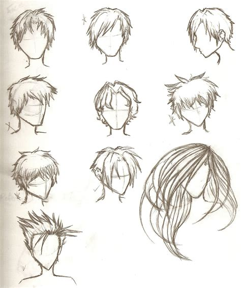 anime hairstyles side view hair sketches by ajbluesox on deviantart