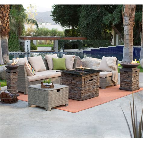 Fire Pit Set Coral Coast South Isle Sectional Set With Coronado