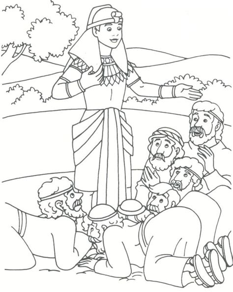coloring pages for joseph and his brothers the world s catalog of ideas