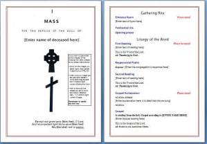 Free Funeral Program Templates by Free Funeral Program Template Microsoft Word Templates