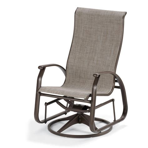 Glider Patio Chair Telescope Casual Cape May Sling Patio Supreme Swivel Glider Dining Arm Chair Ultimate Patio