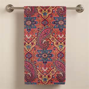 paisley bath towels phoebe paisley bath towel world market