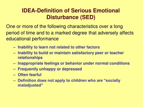 ppt chapter 6 emotional and behavioral disorders