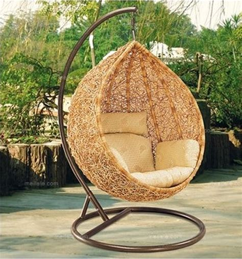 garden rattan hanging swing basket chair