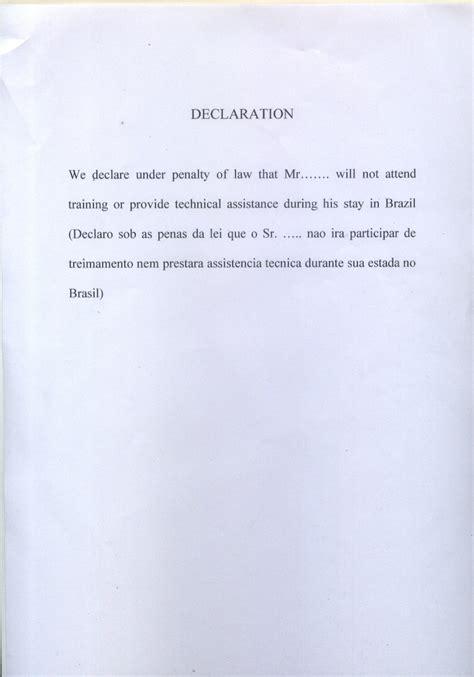 Visa Declaration Letter new page 1 tpvisa