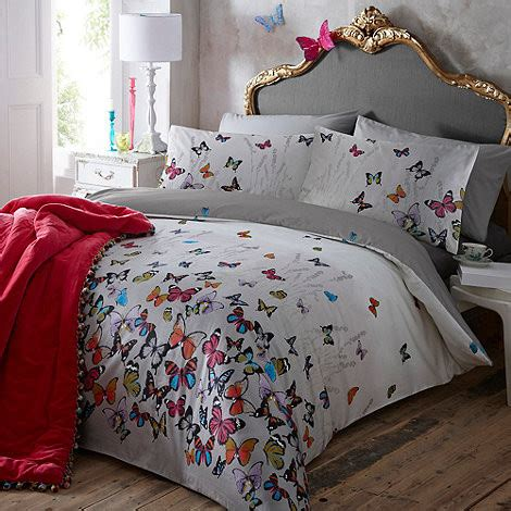 butterfly bedding light gray butterflies bedding set contemporary