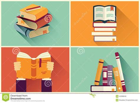 layout book illustrator set of books in flat design stock vector image 45388649