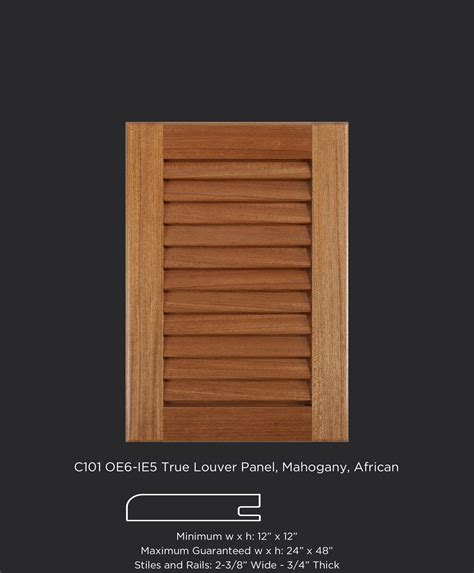 c101 oe6 ie5 open louver panel mahogany