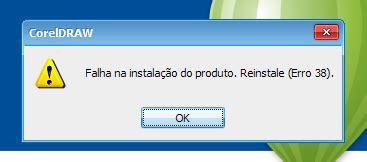 corrigindo erro 38 do corel draw x6 ou x7 no windows 7 8 erro no coreldraw falha na instala 231 227 o do produto