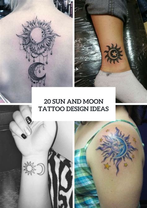 20 sun and moon tattoo ideas for ladies styleoholic