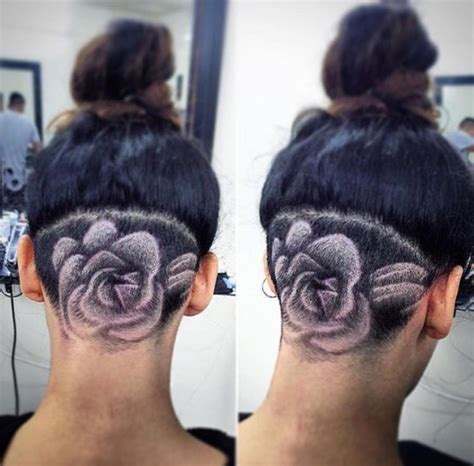 tattoo under body hair cool and trending under your hair tattoo art designs