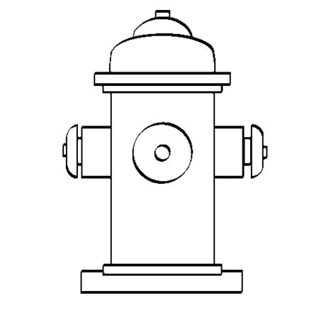 Fire Hydrant Coloring Page Coloringcrew Com Hydrant Coloring Page