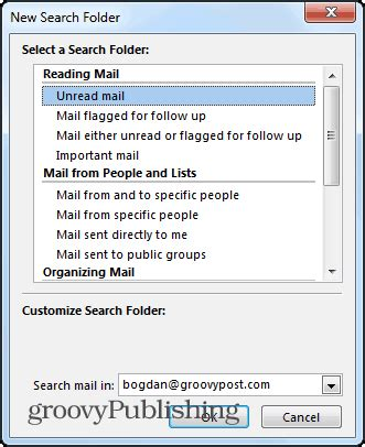Outlook 2013 Email Search Outlook 2013 How To Use Search Folders To Find Email Fast