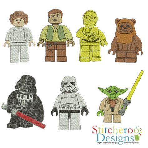 embroidery design lego lego star wars filled set embroidery design pinteres