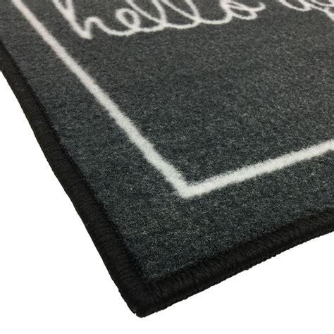 Gray Doormat by Grey Hello Gorgeous Welcome Novelty Door Mat