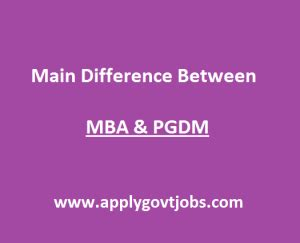 Pgdm And Mba Difference by Difference Between Mba And Pgdm Courses Pointsapply Govt