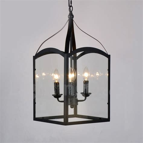 rustic glass pendant light 4 light black metal rustic lodge pendant light with