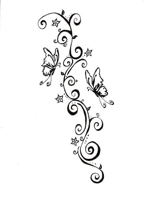 swirly tattoo designs buterfly simple design