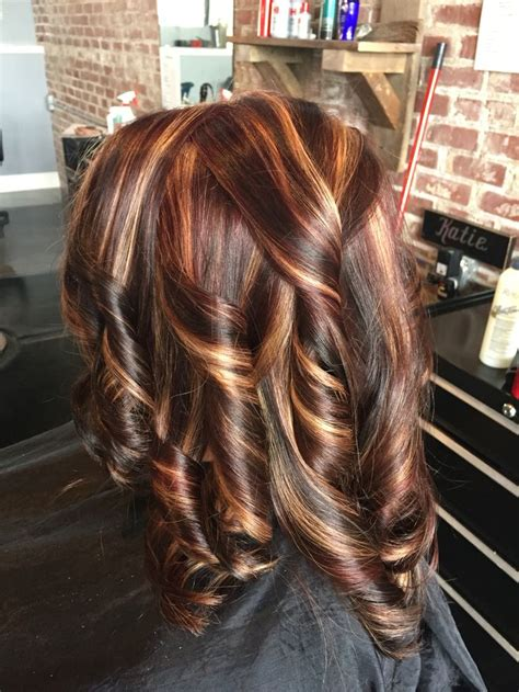fall highlights for brown hair 25 best ideas about all over highlights on pinterest