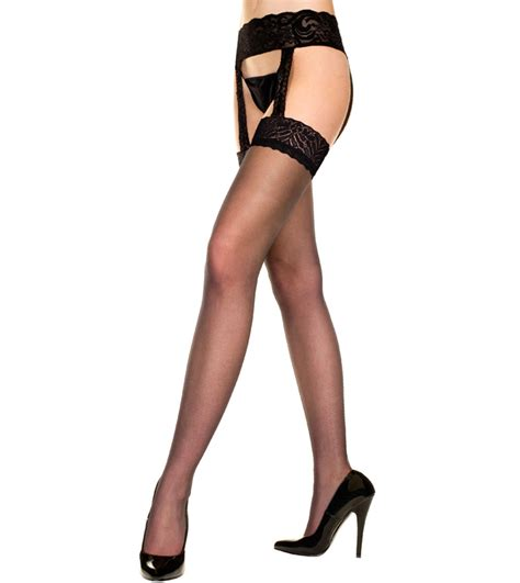 Sheer With Garter Belt Hg5866