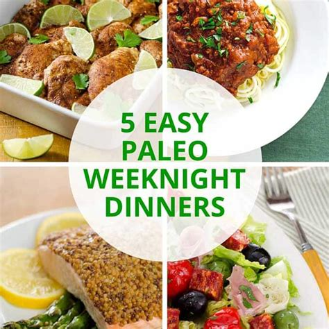the paleo easy vegetarian recipes for a paleo lifestyle books 5 easy paleo weeknight dinners gluten free paleo recipe