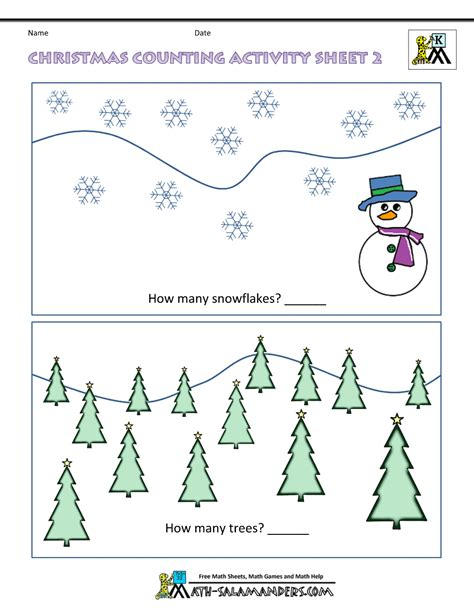 christmas for kindergarten math activities