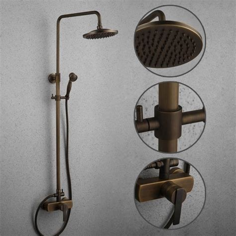 Antique Shower Faucets by Antique Brass Tub Shower Faucet With 8 Inch Shower