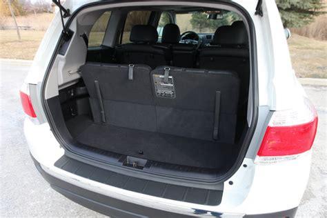 toyota highlander 3rd row seat space 2014 toyota highlander cargo space car interior design