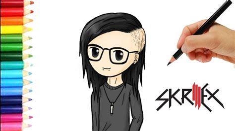 imagenes de skrillex para dibujar a lapiz como dibujar a dj skrillex estilo kawaii skrillex