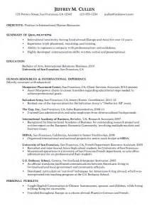 Resume for International Human Resources   Susan Ireland