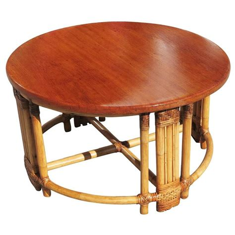 Fancy Tables by Rattan Coffee Table With Mahogany Top And Fancy