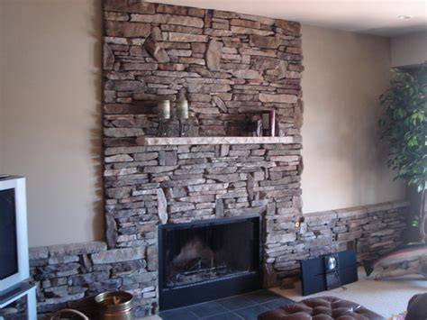 Brighton Fireplace by Boral Cultured Southern Ledgestone Traditional