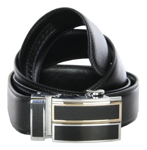 mens black leather ratchet belt gents shop