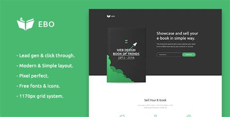 19 Ebook Landing Page Templates Free Premium Templates Simple Landing Page Template
