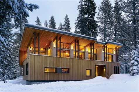 winter house design a modern winter retreat california home design