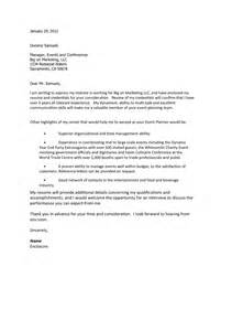 sle cover letter for management search results for best cover letter exles for event