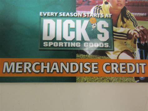 Dick S Sporting Goods Gift Card - dicks sporting goods merchandise credit gift card balance of 20 99 ebay