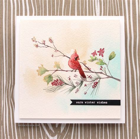 watercolor tutorial christmas holiday card series 2015 day 15 kwernerdesign blog