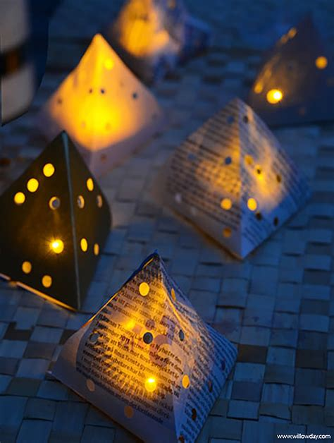 How To Make Paper Lanterns For Candles - diy paper lanterns willowday