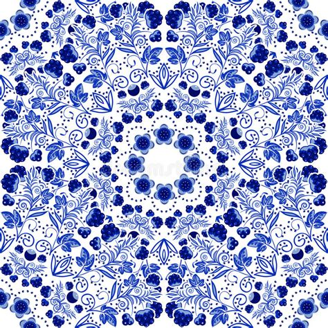 china blue pattern vector seamless floral pattern blue ornament of berries and